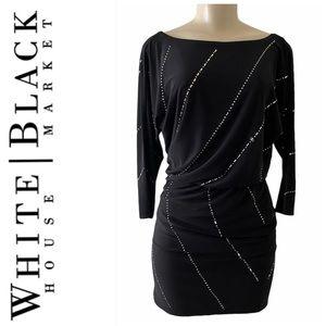Black Cocktail Beaded Dress